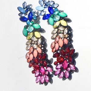 Incredible Chakra Crystal Rainbow Long Earrings